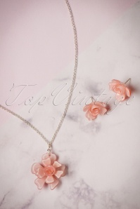 Lisa Angel Acrylic Rose Necklace Earrings set 290 22 23794 07112017 016W