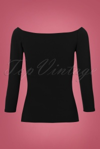 Vintage Chic Scuba Crepe Top Long Sleeve in Black 113 60 22758 20171120 0010W