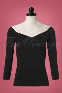 Vintage Chic Scuba Crepe Top Long Sleeve in Black 113 60 22758 20171120 0003pop