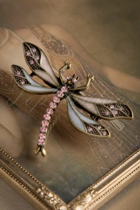 Lovely 20s How To Train Your Dragonfly Brooch in Lila