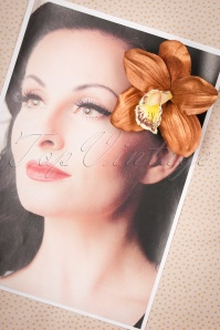 Lady Luck's Boutique Ginger Copper Single Orchid Hairflower 200 70 23836 20171121 0008w