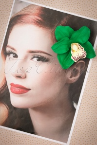 Lady Luck's Boutique Ginger Emerald Green Single Orchid Hairflower 200 40 23834 20171121 0008w