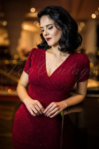 Vintage Chic Wrap Red Glitter Dress 100 20 23390 20171019 0008w
