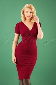 Vintage Chic Wrap Red Glitter Dress 100 20 23390 20171019 1W