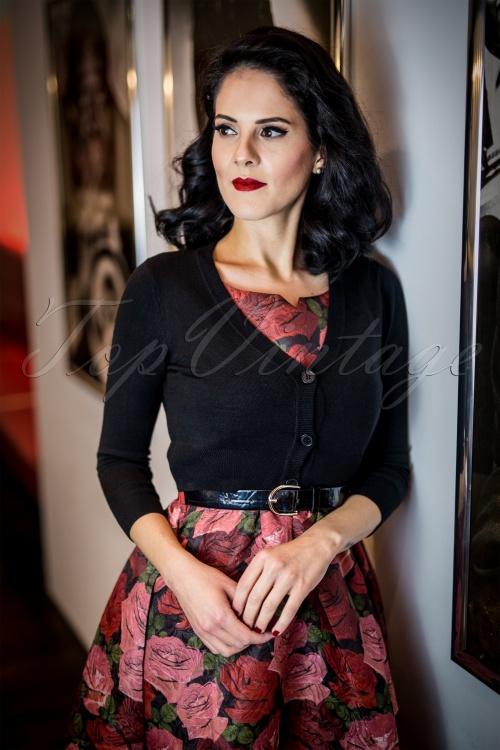 Lindy Bop Nova Roses Swing Dress 102 14 22896 20170831 0019w