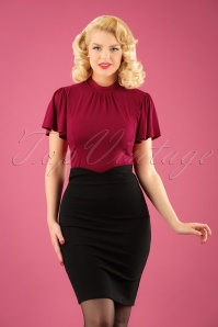 50s Karen Pencil Skirt in Black