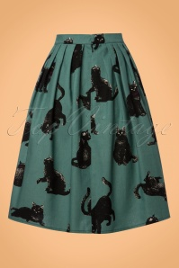 Victory Parade Teal Cat Swing Skirt 122 49 23158 20171122 0005W
