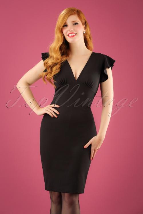 Bellissima  Retro Black Pencil Dress 100 10 23751 20171017 01W