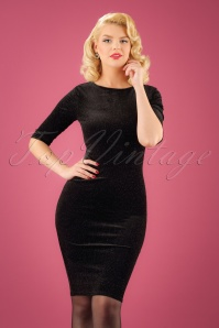 Vintage Chic Glittered Velvet Dress 100 10 23382 20171017 0008W