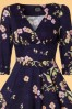 Hearts and Roses Purple floral bird swing dress 102 69 23157 20171025 0004V