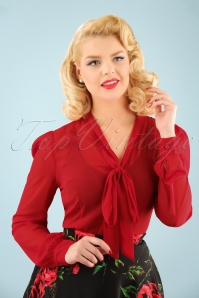 Dolly and Dotty Bow Blouse in Red 112 20 22965 20170926 1W