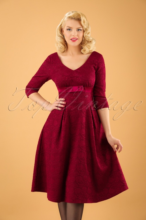 Vixen Jane Red Lace Swing Dress 102 20 19444 20161004 1W