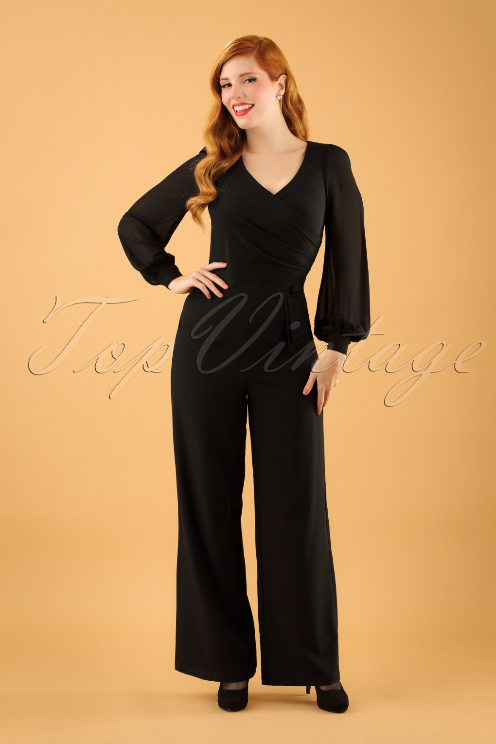 Vintage Overalls 1910s -1950s Pictures and History 40s Rosemary Jumpsuit in Black £62.16 AT vintagedancer.com