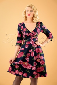Dolly and Dotty Navy Tulip Dress 102 39 22963 20171023 1W