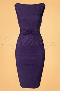 Lindy Bop Maybelle Plum Lace Pencil Dress 100 22 22905 20170403 0013W