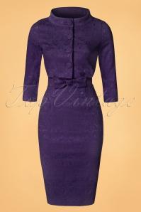Lindy Bop Maybelle Plum Lace Pencil Dress 100 22 22905 20170403 0011W