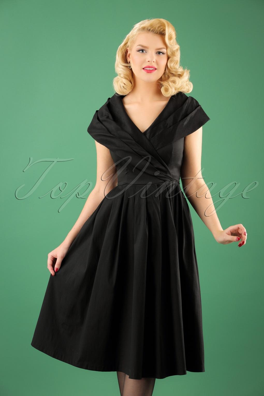 50s Amber Swing Dress In Black