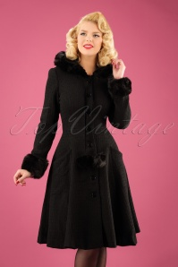 Collectif Clothing Adelita Coat and Cape in Black 21714 20170612 2W