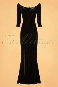 Collectif Clothing Anjelica Velvet Maxi Dress in Black 21824 20170612 0002w