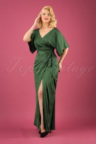 Collectif Clothing Akiko Maxi Dress in Olive 21825 20170612 1W