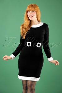 Marmelade Jersey Dress in Black and White 106 10 22724 20171004 1W
