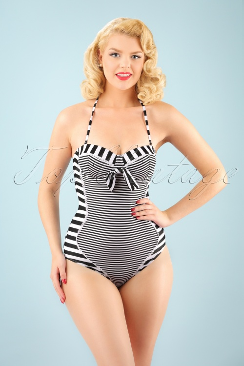 Bellissima Red and White Striped Bathing Suit 161 27 21177 20170207 1W