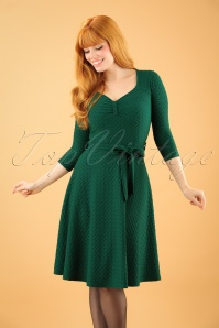 50s Diana Swing Dress in Emerald Green