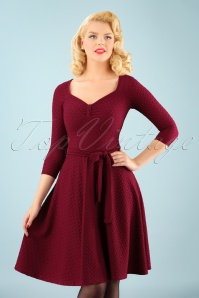 50s Diana Swing Dress in Raspberry