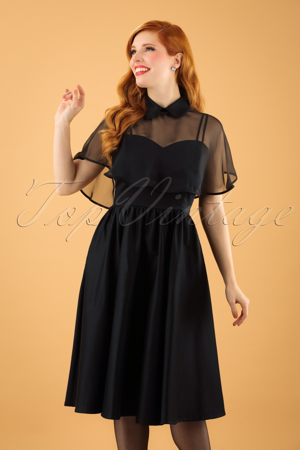 500 Vintage Style Dresses for Sale 40s Luna Swing Dress in Black £136.85 AT vintagedancer.com