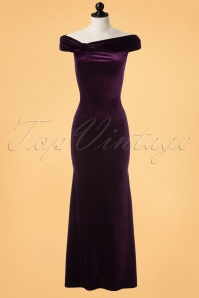 Vintage Chic Velvet Side Purple Maxi Dress 108 60 22470 20171023 0001pop