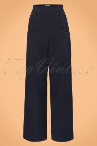 Unique Vintage Ginger Navy Pants 131 51 23171 20171122 0004w