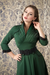 Miss Candyfloss Grain Green Black Swing Dress 102 40 16244 20151016 41W