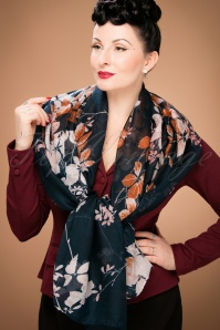 Celestine Autumn Leaves Scarf 240 30 23417 model01W