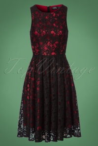 Dolly and Dotty Black and Red Lace Dress 102 10 22981 20171123 0001W