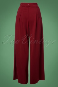 Dancing Days by Banned Indiana Trousers in Burgundy 131 20 24162 20171123 0009W