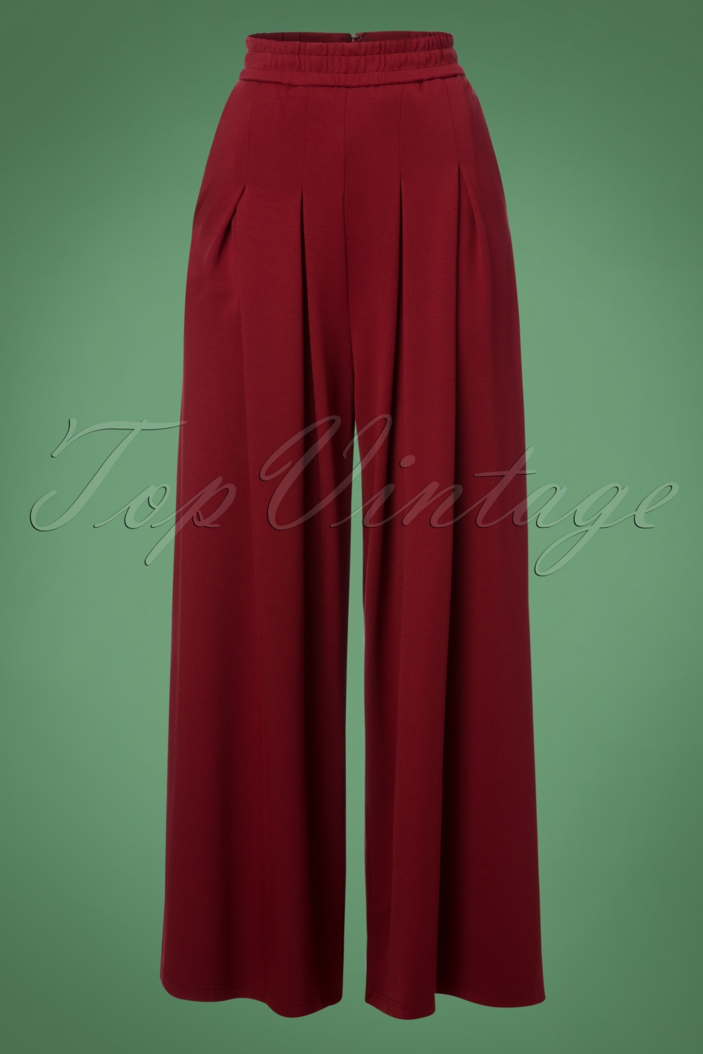 Vintage High Waisted Trousers, Sailor Pants, Jeans 70s Indiana Trousers in Burgundy £49.42 AT vintagedancer.com