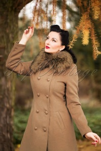 50s Chrissette Coat in Beige