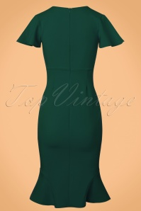 Vintage Chic Super Crepe Forest Green Pencil Dress 100 40 23698 20171123 0002W