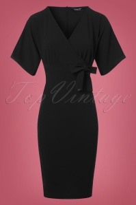 Vintage Chic Scuba Crepe Black Cross Bust Pencil Dress  100 10 22750 20171123 0002w