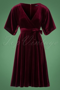 Vintage Chic Velvet Wrap Bow Dress 102 20 22472 20171127 0003W