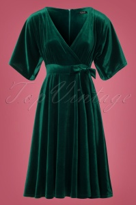 Vintage Chic Velvet Wrap Bow Dress 102 20 22471 20171127 0003W