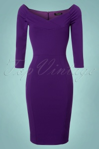 Vintage Chic Scuba Purple Pencil Dress 100 60 22742 20171127 0003W