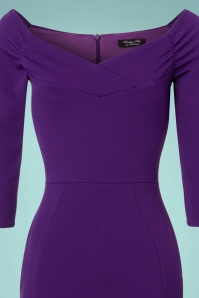 Vintage Chic Scuba Purple Pencil Dress 100 60 22742 20171127 0003V