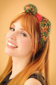 Be Bop A Hairbands Gingerbread Man Green 208 49 23953 model01W