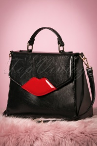 50s Read My Lips Bag in Black