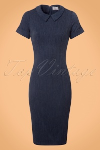 Venus van Chic Blue Denim Pencil Dress 100 30 23418 20171124 0004w