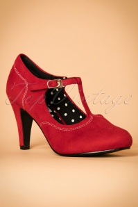 50s Brittany High Heel Pumps in Red