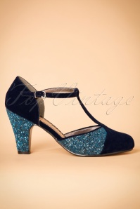 Lulu Hun Blue 20s Sparkle Pump 401 39 24167 28112017 009W
