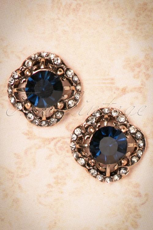 Kaytie Vintage Look Blue Earring Studs 330 30 22944 20171128 0010w