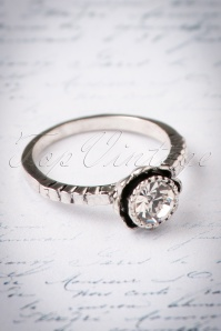 30s Veronica Vintage Diamond Ring in Silver